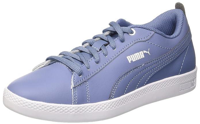 Puma Unisex-Kinder Smash V2 L JR Sneaker, Weiß White White 2, 38.5 EU