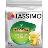 TASSIMO Twinings Mint Green Tea Capsules Pods T-Discs Pack of 5, 80 Drinks