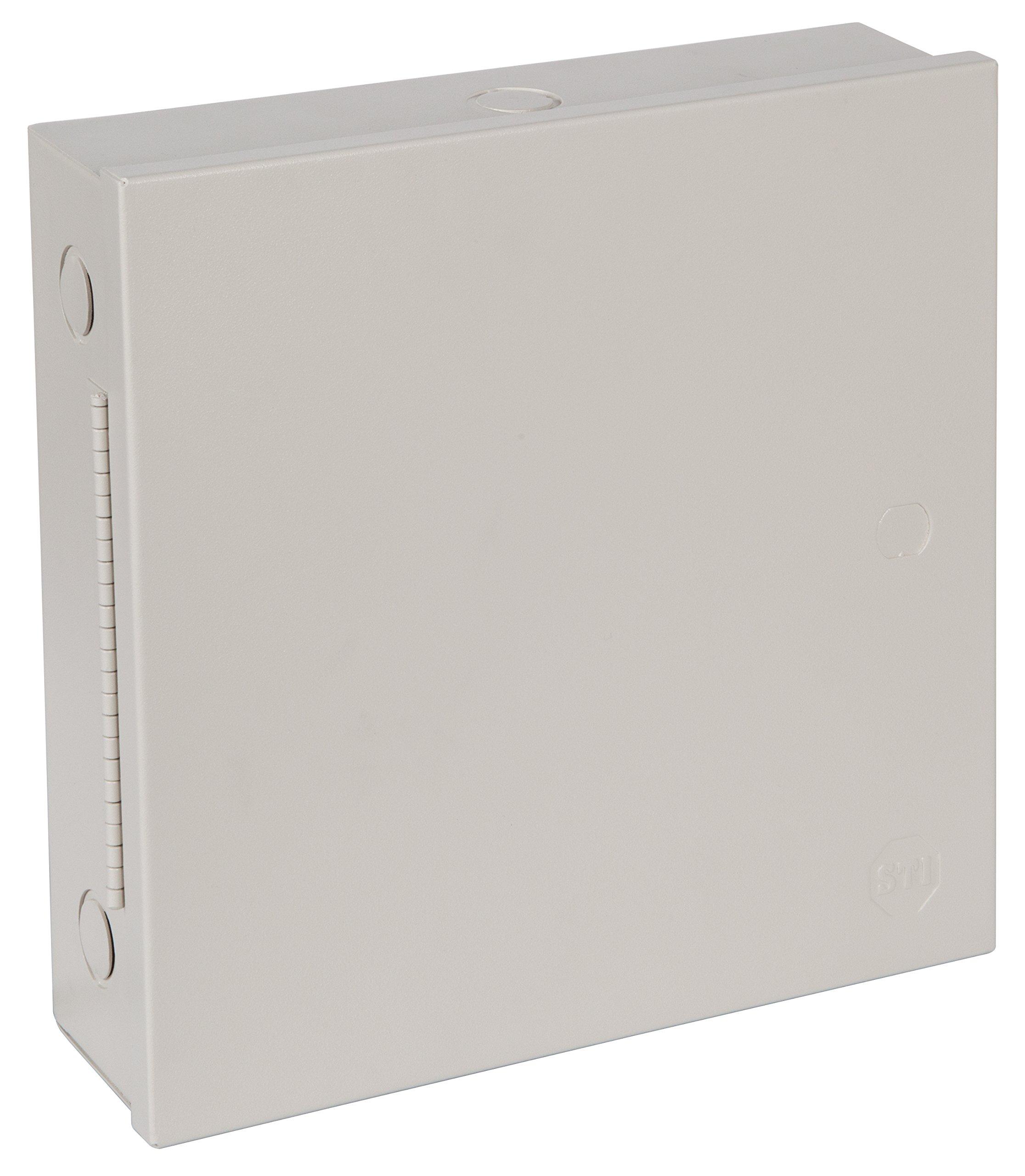 "Safety Technology International, Inc. STI-EM111103 Metal Protective Cabinet, UL/cUL Type1, Powder Coated, Piano Hinge, 11"" x 11"" x 3''"