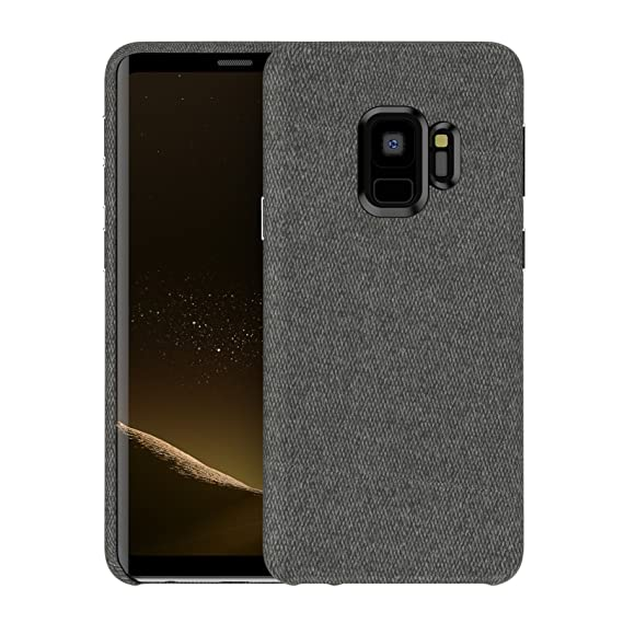 size 40 8c27d 5ae50 Galaxy S9 Plus Fabric Case, Soft Cotton Texture Back Cover Protective Hard  Case Phone Skin Protector Supports Wireless Charging for Samsung Galaxy S9  ...