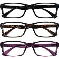 The Reading Glasses Company Zwart Bruin Paars Lezers Waarde 3 Pack Mens Womens UVR3092BK_BR_P+2.50
