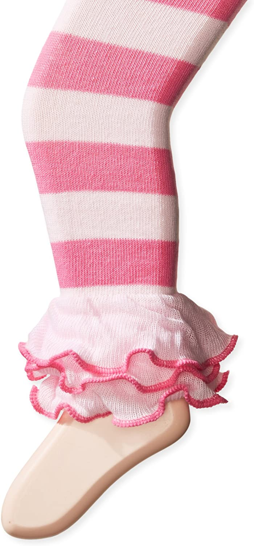 Jefferies Socks Girls' Dot & Stripe Multi Ruffle Footless Tight