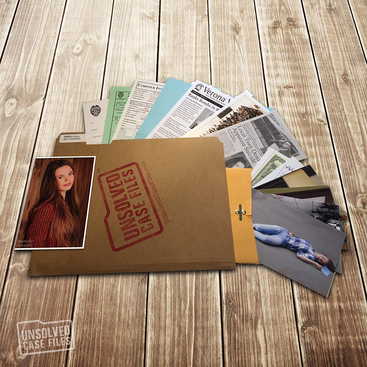 UNSOLVED CASE FILES Jamie Can You Solve The Crime? Banks Cold Case Murder Mystery Game