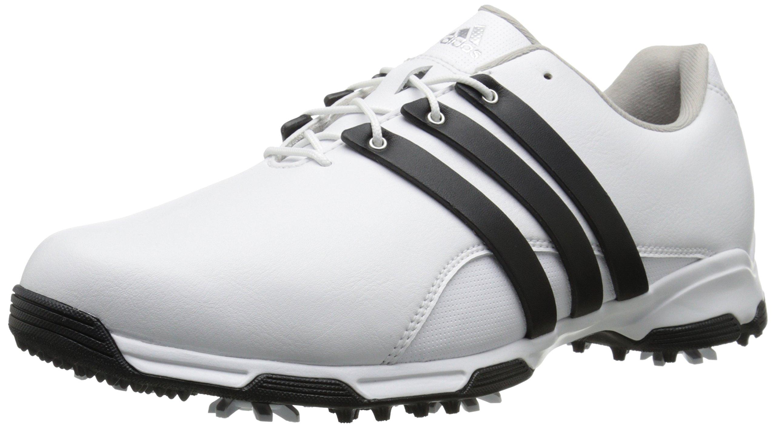 adidas Men's Pure TRX Golf Shoe, White/Core Black/FTWR White, 10.5 M US by adidas