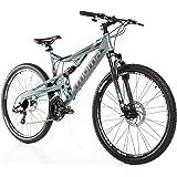 """Bicicletta Montagna Mountainbike 27,5"""" MTB SHIMANO, alluminio, doppio disco e doppia sospensione"""