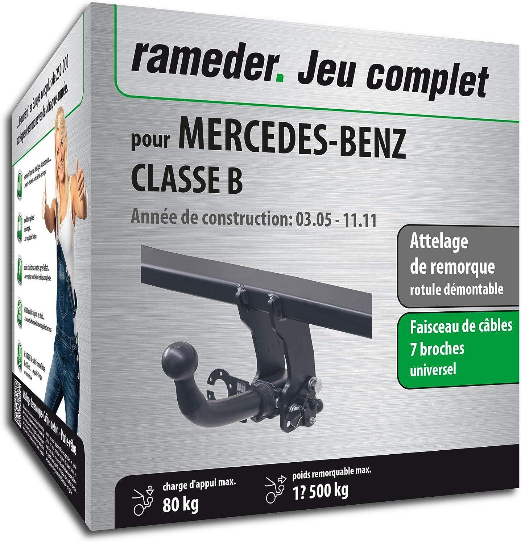 Faisceau 7 Broches Rameder Attelage rotule d/émontable pour Mercedes-Benz Classe B 129839-05396-1-FR
