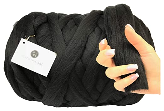 Meriwoolart 100 Merinowolle Zum Stricken Häkeln Mit 4 5 Cm Dickem