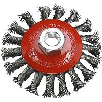 Silverline 633510 - Cepillo cónico de acero trenzado