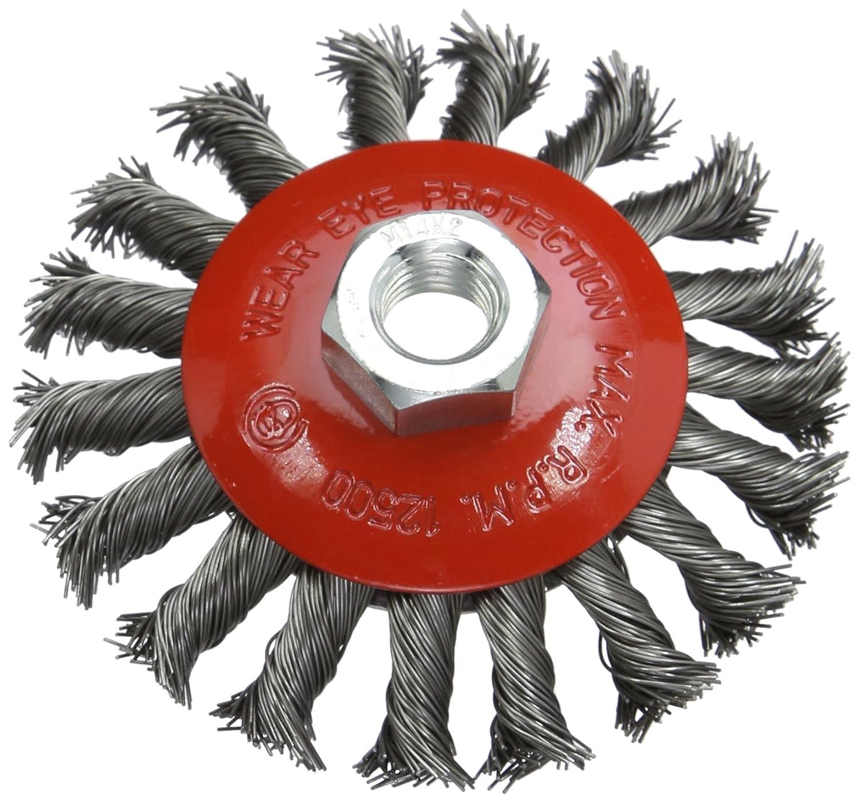 Silverline 580493 Stahldraht-Scheibenb/ürste gezopft 115 mm