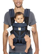 Ergobaby Baby Carrier for Newborn to Toddler, 4-Position Omni 360 Cool Air Raven, Breathable Ergonomic Child Carrier & Backpack