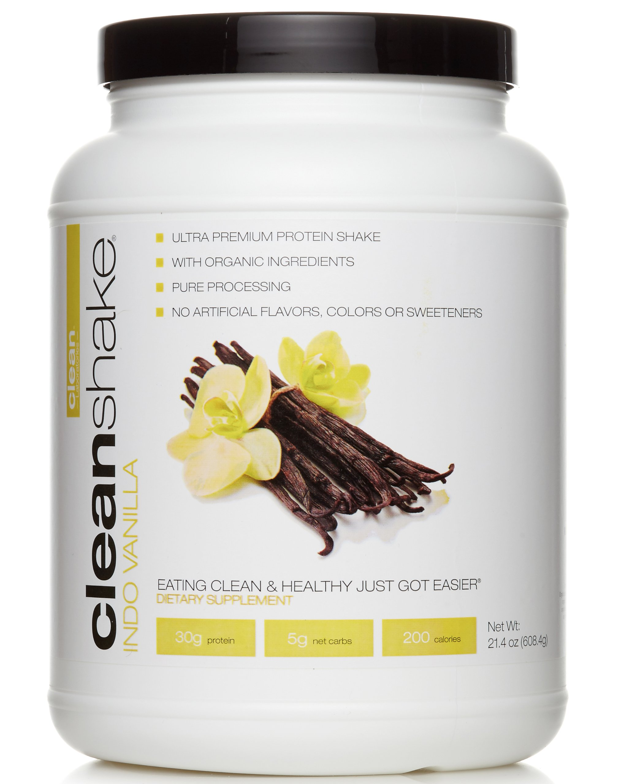 Cleanshake Vanilla Protein Shake. Clean, No Artificial Flavors, Colors or Sweeteners. Made in the USA. by CleanShake Inc.