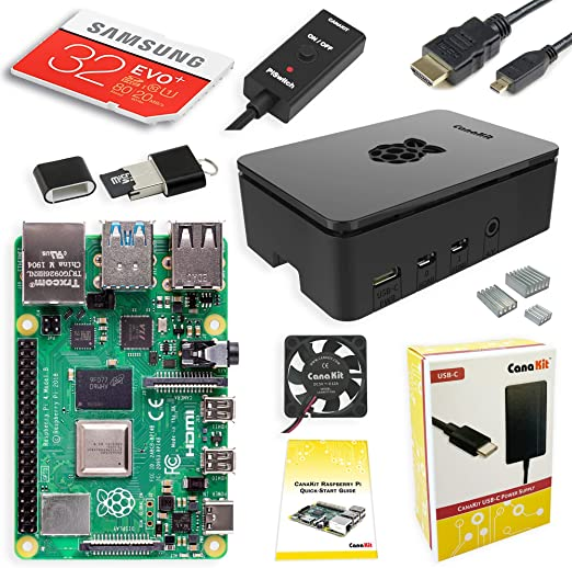 CanaKit Raspberry Pi 4 4GB Starter PRO Kit - 4GB RAM