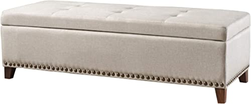 Christopher Knight Home Gavin Fabric Storage Ottoman