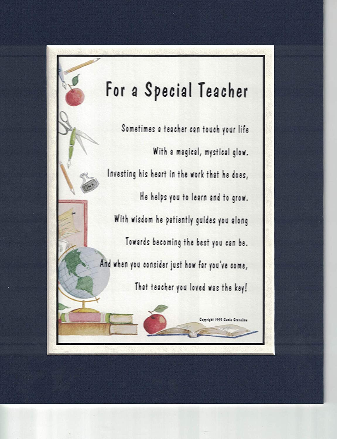 A Thank You Gift Present Poem For A Special Teacher 171 Male