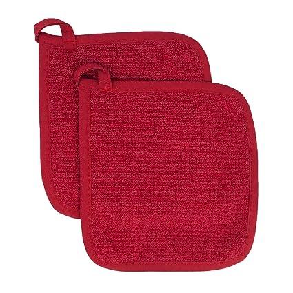 ritz royale collection 100 cotton terry cloth pot holder set kitchen hot pad - Kitchen Hot Pads