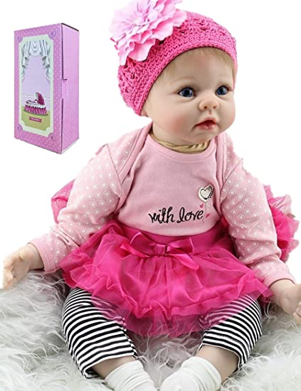bebe gift Handmade Reborn Doll Clothes Set Newborn Baby Girl Dresses gifts 22/""