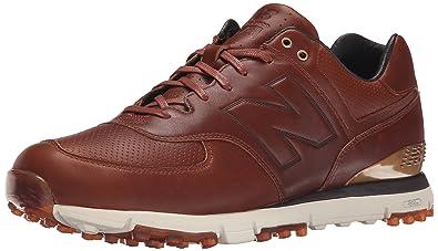 Mens New Balance NBG574LX Brown Golf Shoes Z32525