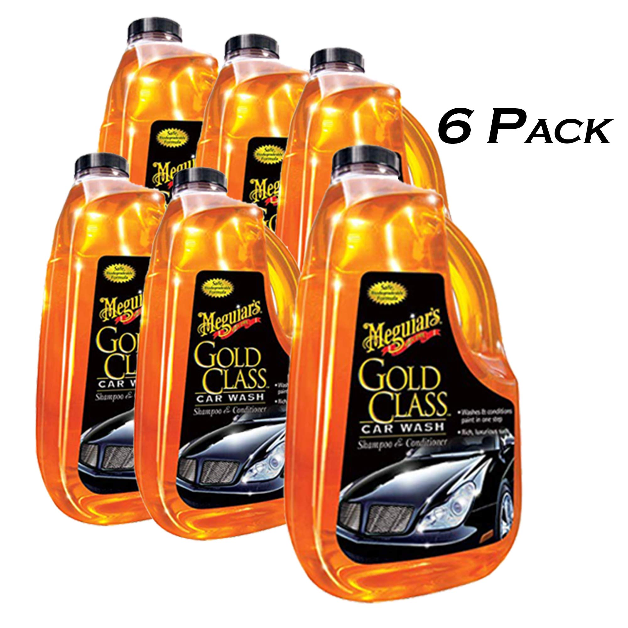 Meguiars G7164 Gold Class Car Washer or Washing & Conditioner, 64-oz. - 6 Pack