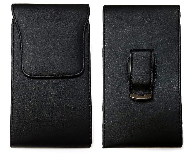 the best attitude 29b08 2193a PLUS SIZE Pouch Case Holster for APPLE IPHONE 8 PLUS , IPHONE 7 PLUS ,  iPHONE 6 PLUS , iPHONE 6S PLUS [ 5.5''] ~ Heavy Duty Black Flap Leather ...