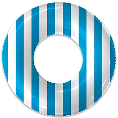Float Naked | Pool Tubes with Fun Prints | Celebrity-Approved Tubes for Floating | Fun Swim Floaties for Adults | Great Inner Tube Pool Floaty for All Ages (Blue Stripe): Toys & Games