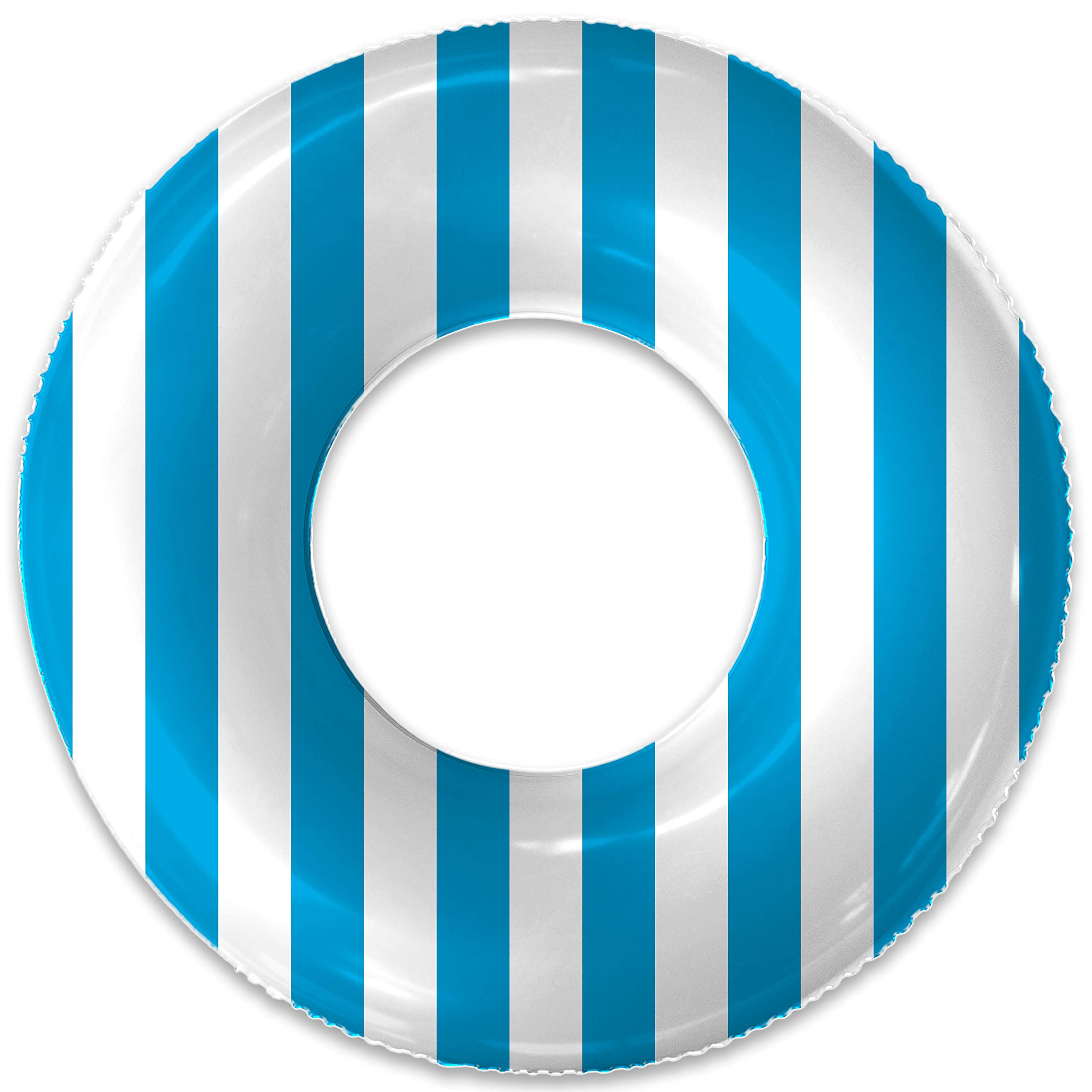 Float Naked | Pool Tubes with Fun Prints | Celebrity-Approved Tubes for Floating | Fun Swim Floaties for Adults | Great Inner Tube Pool Floaty for All Ages (Blue Stripe) by Float Naked