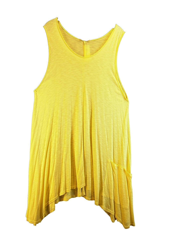 Kleid Trägerkleid Sommerkleid Viskose gelb lang weit Gr. 48-50 Übergröße Rafay