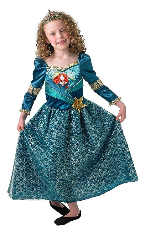 Mérida - Shimmer Vestido - Disney Princess - Childrens Disfraz - Pequeño - 104cm