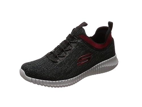 sports shoes ad2aa b3f5b Skechers Men s Elite Flex- Hartnell Trainers, (Black Red BKRD), 6 (