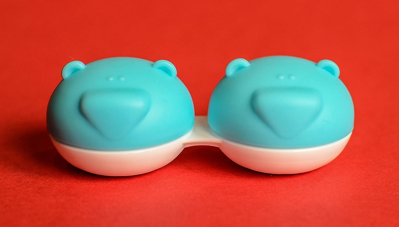 3 x Bear Range Fun Cute Animal Pink Contact Lens Storage//Soaking Case