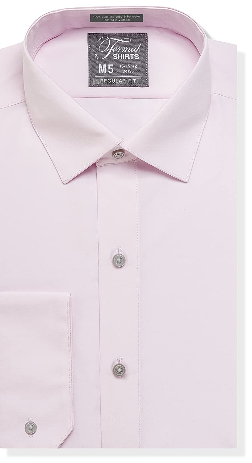 95e3826728c151 Formal Shirts Plaid - 100% Luxe Microfiber Dress Shirt or Formal Shirt is a  regular fit mens shirt designed with comfort in mind