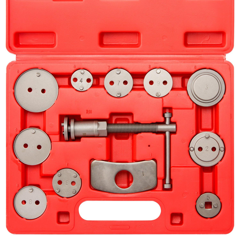 Neiko 20733A Disc Brake Pad and Caliper Wind Back Kit 12-Piece Set Ridgerock Tools Inc