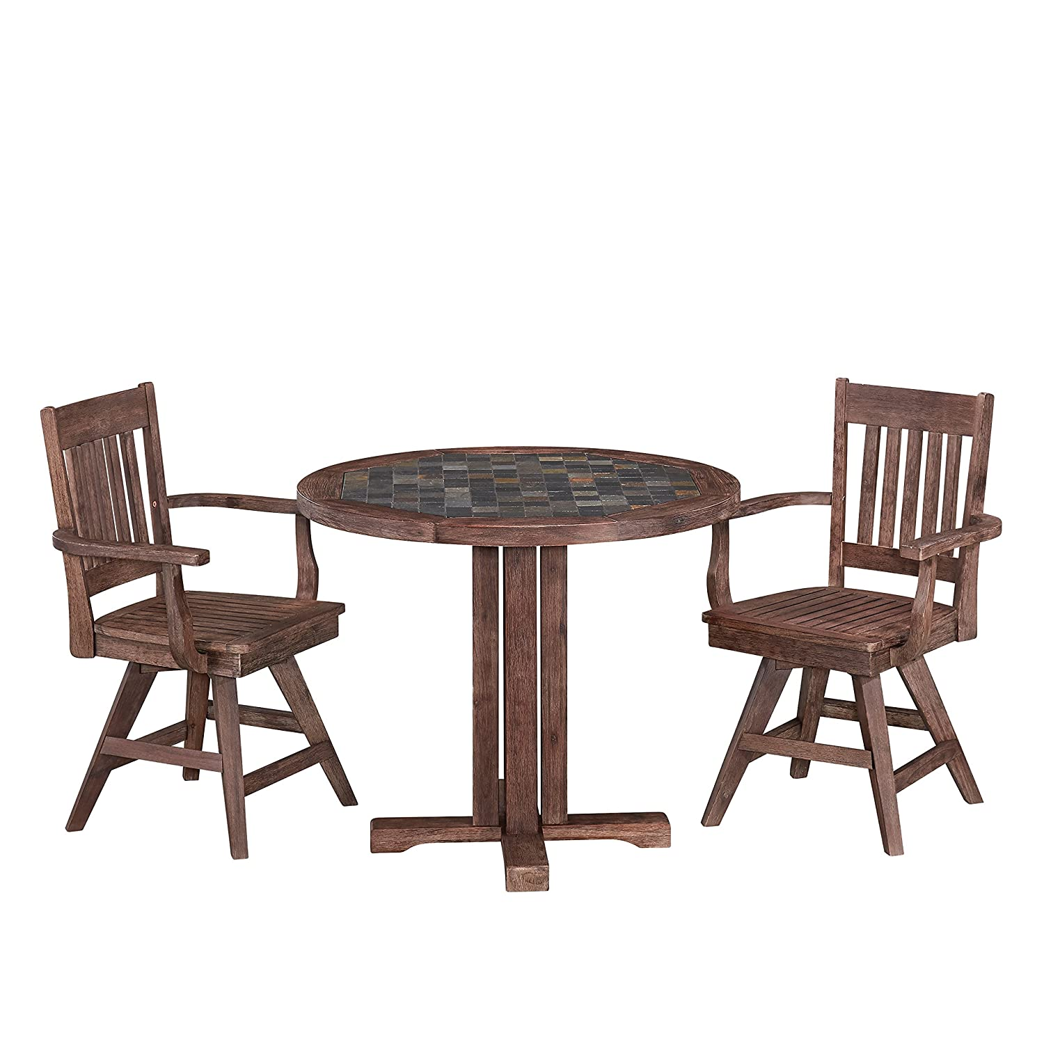Sensational Amazon Com Morocco Dining Set With Round Table And Two Evergreenethics Interior Chair Design Evergreenethicsorg