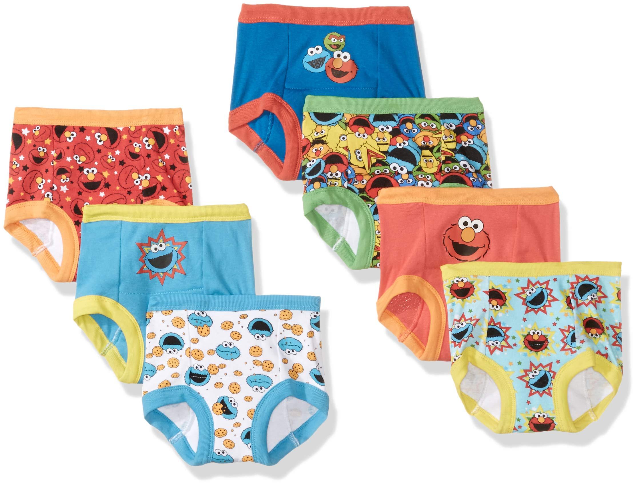 Sesame Street Boys' Toddler 7-Pack, Sesame, 2T by Sesame Street
