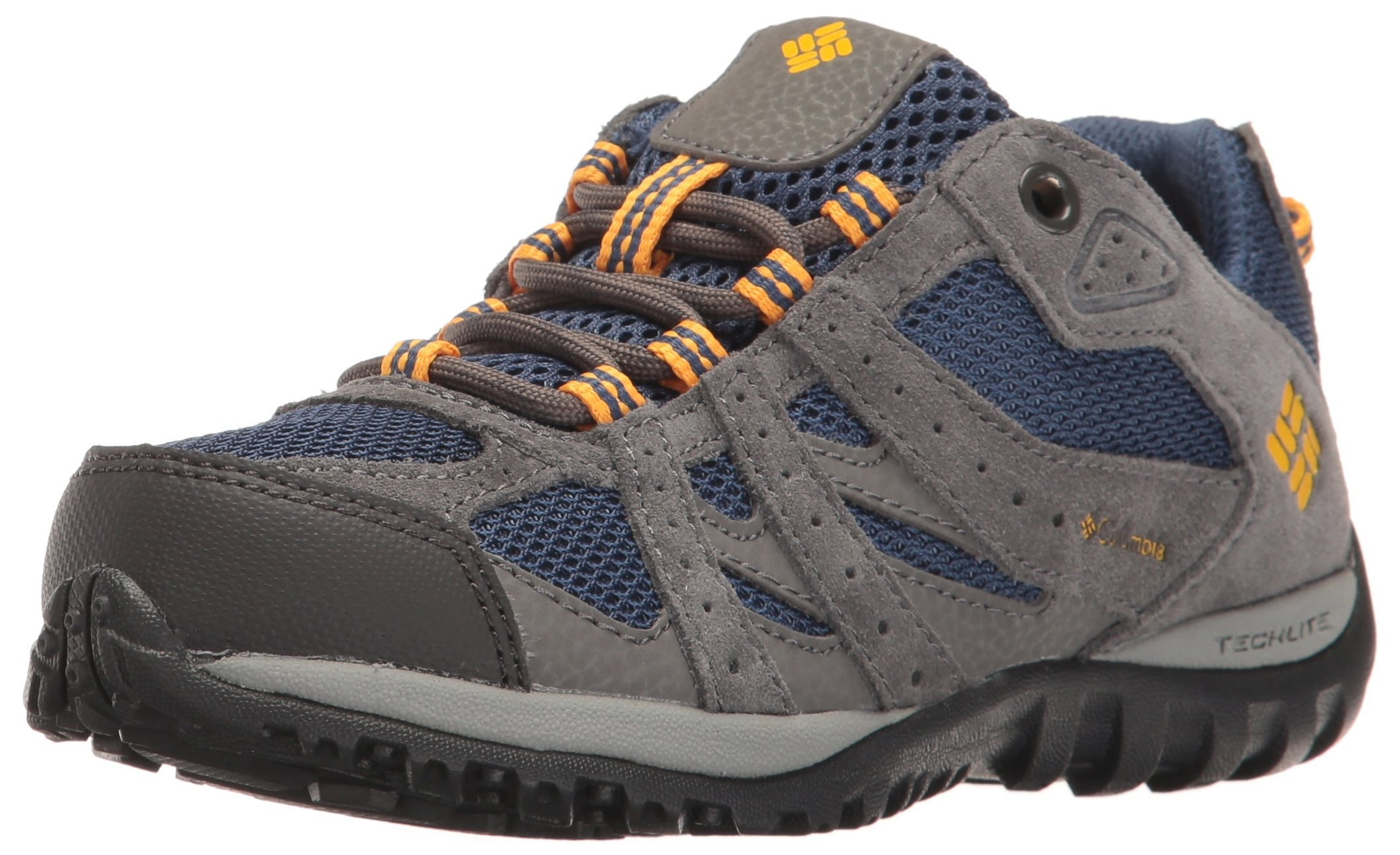Columbia Unisex Youth Redmond Hiking Boot Carbon, Super Solarize 1 M US Little Kid