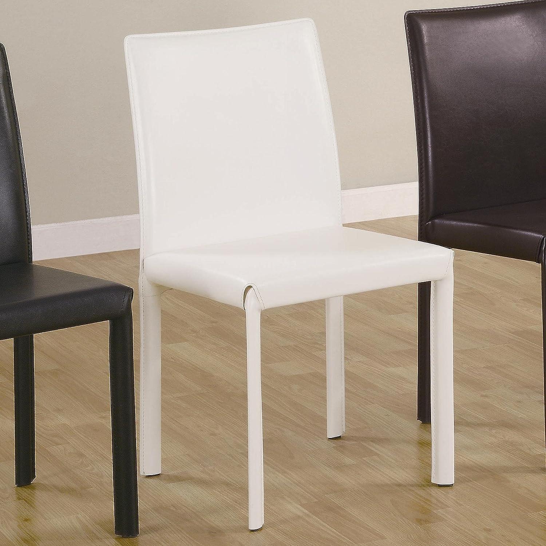 Coaster Benson Faux Leather Parson Chair Set of 4 , White