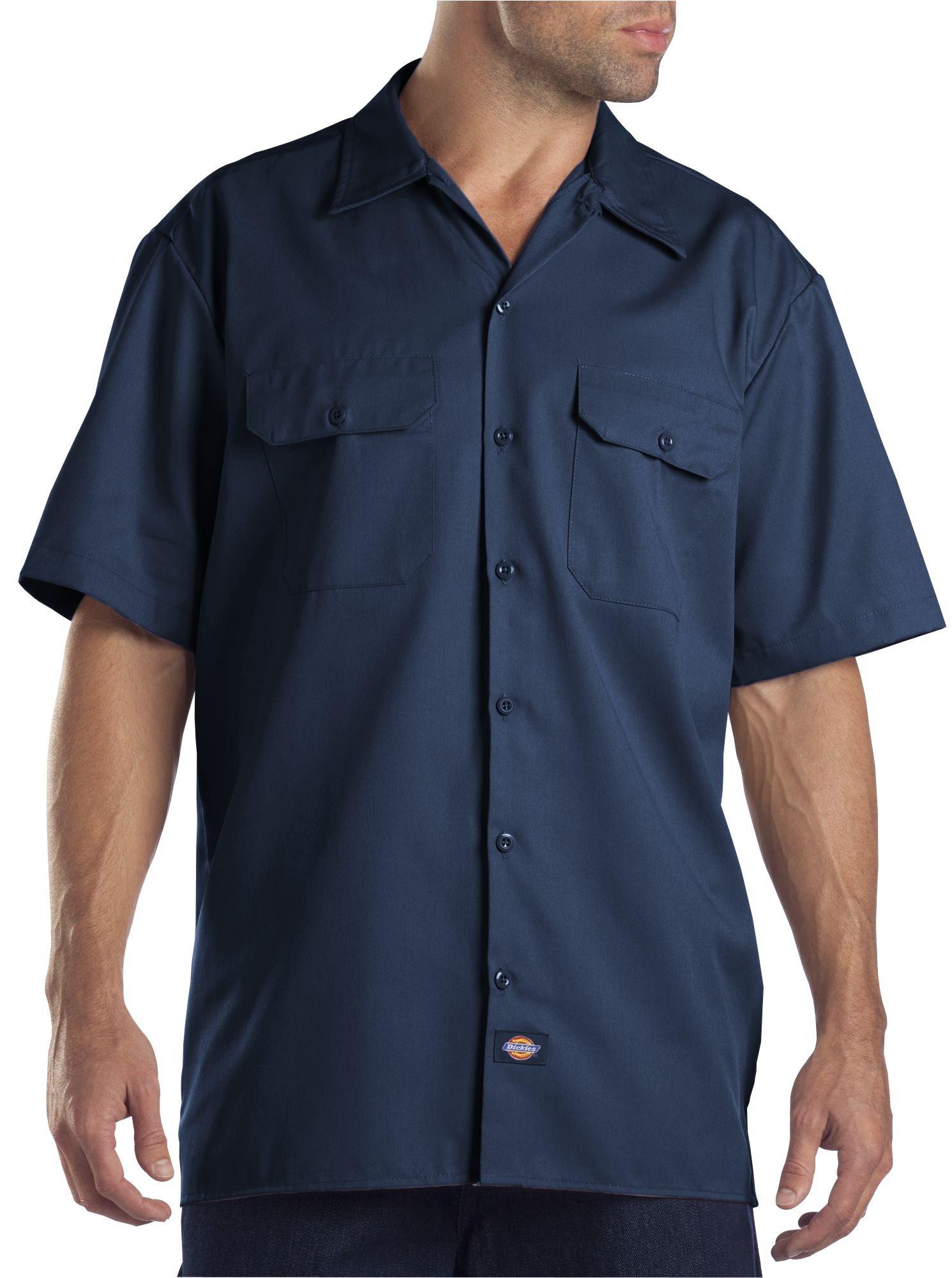 Dickies Men's Big-Tall Short-Sleeve Work Shirt,Navy,3X
