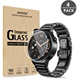 (Pack of 4) Tempered Glass Screen Protector for Huawei Watch, Akwox [0.3mm 2.5D High Definition 9H] Premium Clear Screen Protector for Huawei Watch