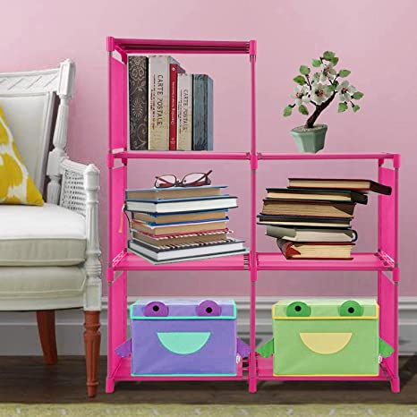 Amazon.com: Asatr 3 Tier Cube Organizer 5-cube Cabinet Bookcase ...