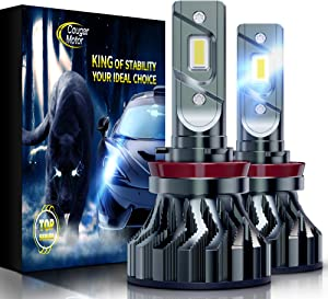 Cougar Motor Flagship H11 (H8, H9) LED Headlight Bulbs, Super Bright 12000Lm 6500K Conversion Kit - Cool White CREE