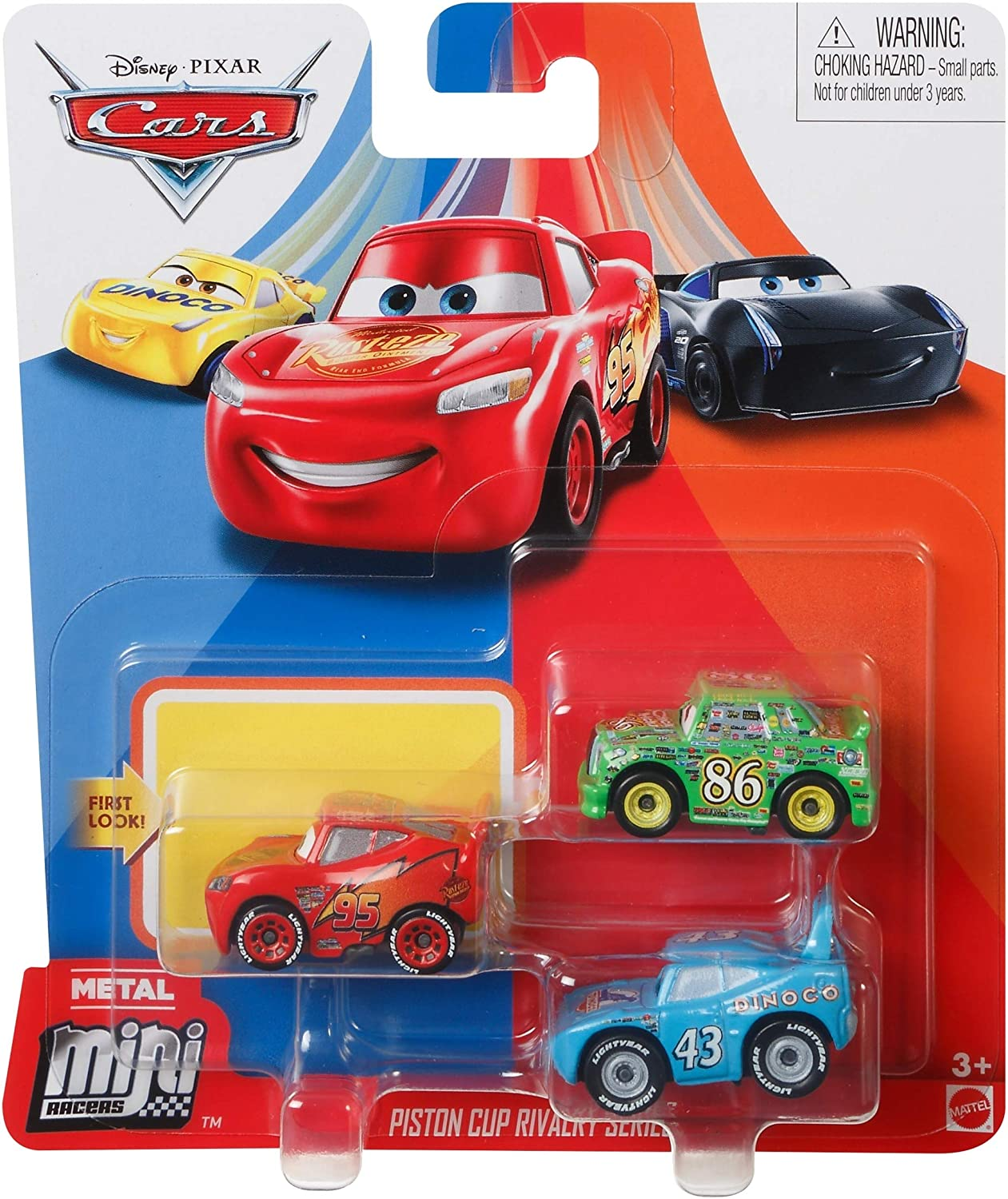 Amazon Com Disney Cars Mini Racers Piston Cup Rivalry 3 Pack