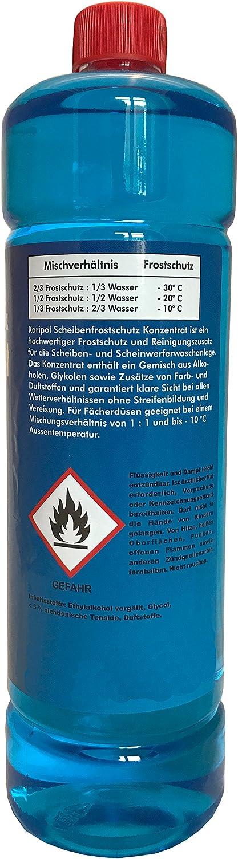 10 X 1liter Karipol Scheibenfrostschutz Konzentrat Für Waschanlage Frostschutzmittel Auto