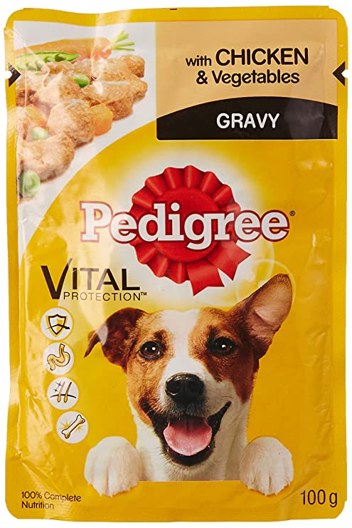 Pedigree Wet Dog Food Chicken And Vegetable For Adult Dogs 100g
