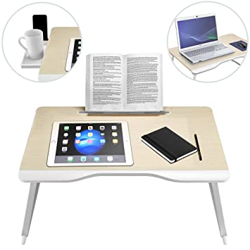 Portable Foldable Folding Laptop Table Notebook Desk Sofa Bed Laptop Table For Eating Studying On Sofa Bed With Folding Legs D Modern Techniques Furniture Laptop Desks