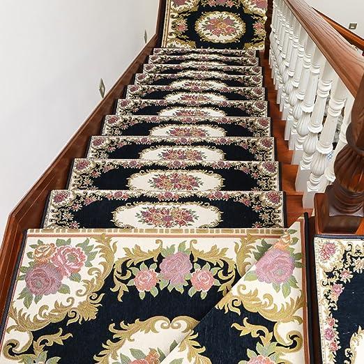 ZZHF Rectángulo Escalera Libre de Pegamento/Madera Maciza Escaleras Europeas Alfombra/Alfombra Antideslizante autoadhesiva (Un Paquete de 1) alfombras de habitacion (Color : G, Tamaño : 26 * 75cm): Amazon.es: Hogar