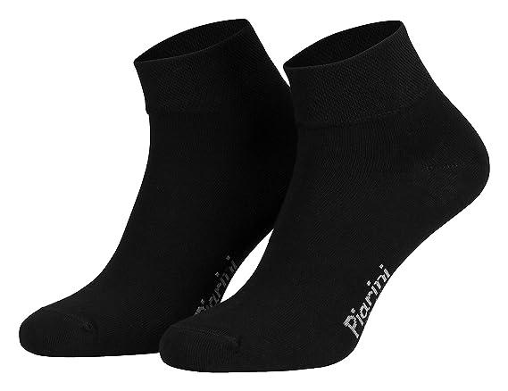Piarini Calcetines cortos/tobilleros unisex - Sin elástico - Varios colores y negro - También en tallas grandes: Amazon.es: Ropa y accesorios