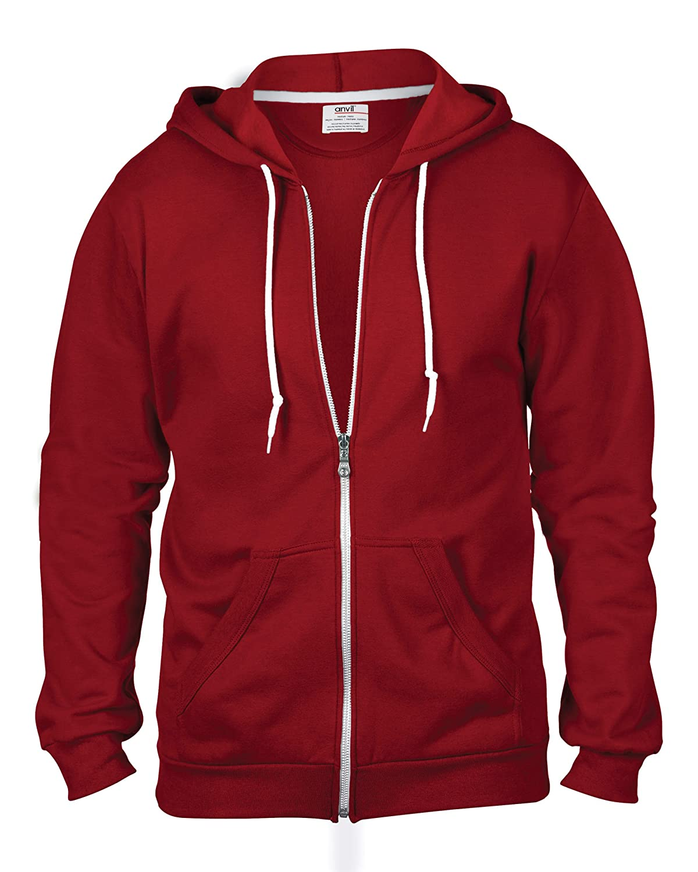 Anvil Full-Zip Hooded Sweatshirt