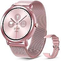 ELEGIANT SmartWatch, 1,28 '' IP68 pekskärm Smart Watch, Woman Smart Activity Armband för sport, Aktivitetsmonitor…