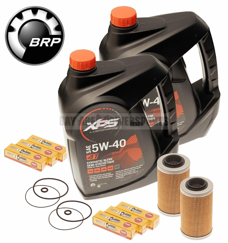 Mar Doo cambio de aceite kit w/filtro o anillos & Bujías 2 Pack 4-Tec GTI GTX GTS: Amazon.es: Coche y moto