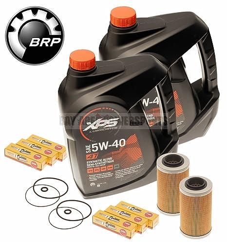 Mar Doo cambio de aceite kit w/filtro o anillos & Bujías 2 Pack 4