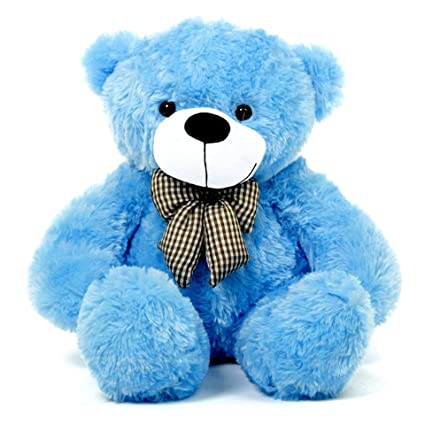 df3feb89637 Buy Growth Creation Teddy Bear 5 Feet Blue Colour with Love Online at Low  Prices in India - Amazon.in
